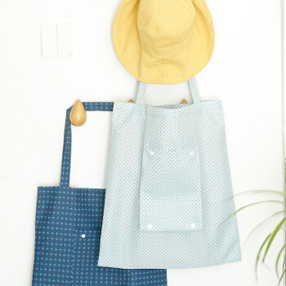 牧旅 旅行居家牛津布艺购物袋 环保大容量购物袋 可折叠外出备用袋  文艺点点