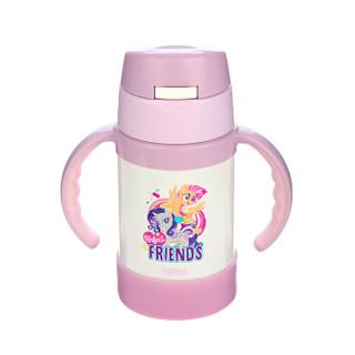 膳魔师 THERMOS 儿童水杯保温杯吸管杯学饮杯防漏带手柄 小马宝莉版  FEC-283S MP002