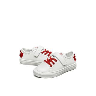 意尔康童鞋2019春季新款女童小白鞋中大童儿童休闲运动鞋男童板鞋ECZ9155662 红色 33