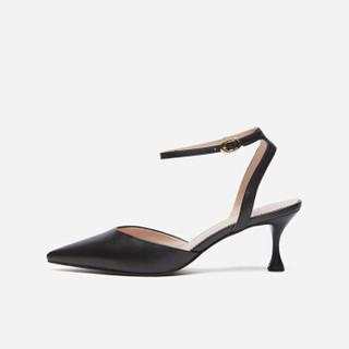 hotwind 热风 女士时尚单鞋   H35W9516  01黑色 38