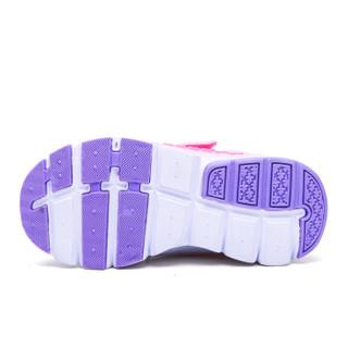 史努比(SNOOPY)童鞋男童运动鞋 春季新品儿童运动鞋透气男童鞋中小童鞋 S9112818紫色33