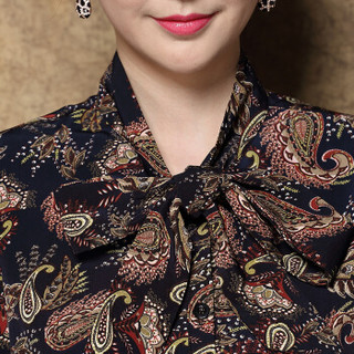 奥豚 AOTUN 时尚妈妈装春装两件套装中年中老年人女装长袖40-50岁宽松上衣GLR-8706 黑色+黑裤 XL