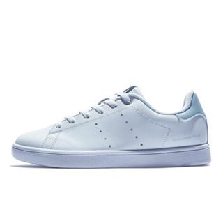 QIAODAN 乔丹 女鞋板鞋女休闲鞋运动鞋韩版潮流小白鞋 XM1690510 白色/粉沫蓝 36