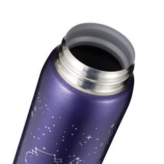 象印(ZO JIRUSHI)480ml不锈钢真空保温户外防漏弹盖水杯子 星空设计款SM-SS48C-AZ