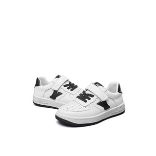 意尔康童鞋女童板鞋春款新品2019单鞋中大童儿童运动鞋男童鞋子ECZ9155665 黑色 35