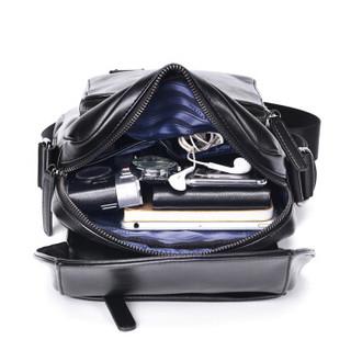 POLO 男士单肩包休闲商务潮流斜挎包大容量运动小背包ZY042P241J  黑色
