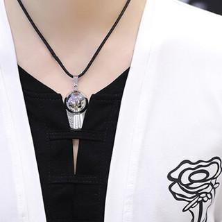 猫人 MiiOW T恤男2019春季新款韩版修身假两件圆领长袖T恤KC-3602白色3XL