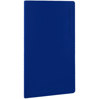 飞兹(fizz)80张皮面记事本/肤感封面日记本/柔系列办公笔记本子 蓝色FZ330002