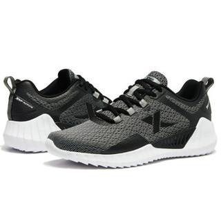 XTEP 特步 男鞋跑步鞋春季新款男士跑鞋休闲鞋户外健身男运动鞋 881119119012 黑灰 42码