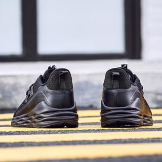 ERKE 鸿星尔克 男鞋新款减震防滑耐磨轻便休闲鞋运动鞋缓震型跑步鞋男 51119103076 正黑 39