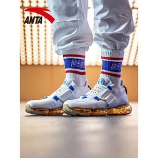 ANTA 安踏 跑步系列 91835509 男NASA美国队长绿巨人SEEED零界跑步鞋 安踏白/中蓝/金属金 9(男42.5)