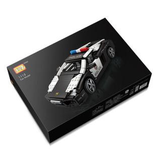 俐智(Loz)积木 小颗粒拼装玩具汽车模型 兰博基尼警车 儿童节礼物玩具积木 1113/警车模型1005PCS