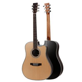 雅依利(S.yairi)YD35C 雅伊利民谣木吉他圆角单板吉他jita乐器哑光 男女通用款 41寸原木色