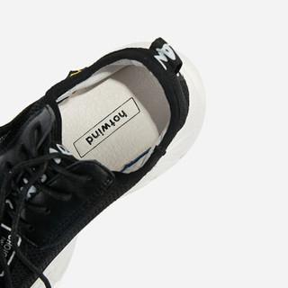 hotwind 热 女士时尚休闲鞋 H12W9506 01黑色 35