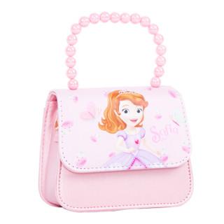 DISNEY迪士尼儿童包包 时尚女童珠链幼儿包斜挎包手提包单肩包女孩生日礼物新年礼 DR1S030-1苏菲亚粉色