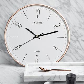 北极星 POLARIS 挂钟创意客厅时尚静音时钟壁钟二代智能电波钟 2772金-电波钟