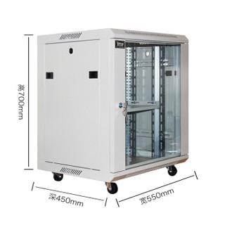 科创 机柜12uKDE-6412 服务器网络机柜 交换机机柜 监控机柜 弱电小型加厚壁挂机柜