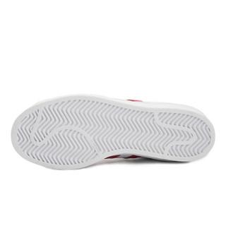 adidas 阿迪达斯 三叶草 女子 三叶草系列 SUPERSTAR W 运动 经典鞋 白红色 EE9151 40码 UK6.5码