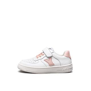 意尔康童鞋女童板鞋春款新品2019单鞋中大童儿童运动鞋男童鞋子ECZ9155665 粉色 34