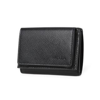 PRADA 普拉达 男士黑色牛皮短款钱夹钱包 2MH021 053 F0002