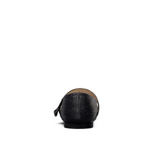 意尔康童鞋女童鞋子韩版甜美2019春新款中大童单鞋平底女童小皮鞋ECZ9123652 黑色 28