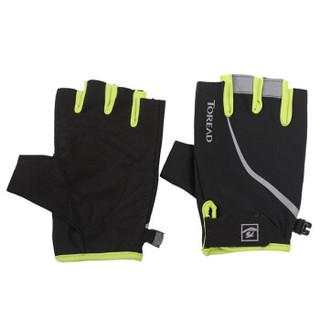 TOREAD 探路者 TREKKING徒步系列 男女通用保暖滑雪手套 ZELF80090-D34X 柠檬绿 半手指指骑行手套 M