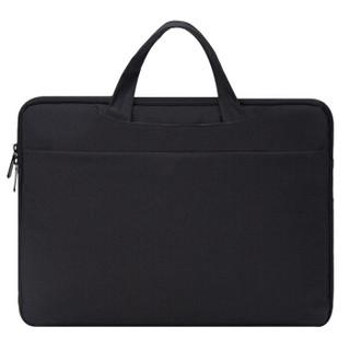 SVVISSGEM 苹果华硕联想戴尔内胆包14-15英寸抗震防泼水笔记本包手提电脑包男 SA-9987XL黑色