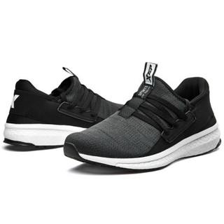 XTEP 特步 男鞋跑鞋新款轻薄舒适网面跑步鞋休闲正品男运动鞋 982219119296 黑灰 43码