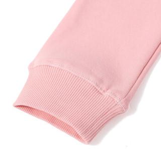 KENZO KIDS 高田贤三 奢侈品童装 女童粉色混纺休闲长裤 KM23017 33 4A/4岁/104cm