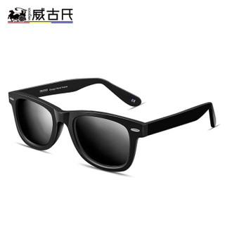 威古氏 VEGOOS 偏光太阳镜男女款潮流驾驶镜墨镜眼镜 6106 亮黑框灰片