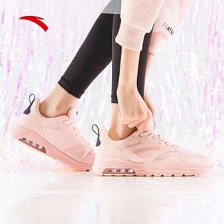 ANTA 安踏 旗舰女鞋运动鞋2019新款半掌气垫休闲鞋女子运动综训鞋 12917775-4  婴儿粉/深蓝黑 5(女35.5)