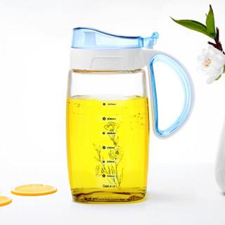 紫丁香 820ml食品级玻璃调味油壶防挂油带刻度控油调料瓶(两个装)WJ8124