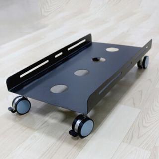 索厉 Suoli H007 电脑主机托架/台式主机托架/可移动机箱/台式架子底座支架/金属机箱托(加大号XL黑色H007)