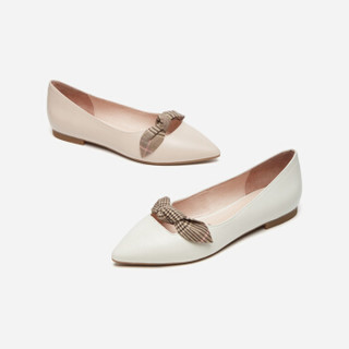 hotwind 热风 H24W9524 女士时尚单鞋 03米色 35