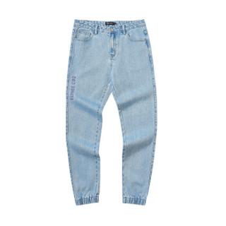 森马semir旗下品牌爱肯Aiken2019春季男装牛仔长裤AK119201205牛仔浅蓝33