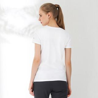 Columbia 哥伦比亚 户外女款印花棉质短袖T恤 AR1103 100 XXL