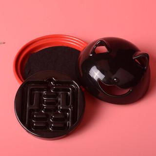台湾富山香堂 猫香炉香座盘香倒流香座两用香薰炉香器香炉