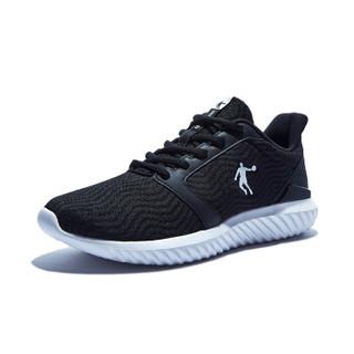 QIAODAN 乔丹 男鞋跑步鞋舒适透气运动鞋 XM1590243 黑色/白色 40