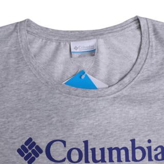 Columbia 哥伦比亚 探索系列 经典Logo圆领短袖吸湿舒适 PL1994 040 L