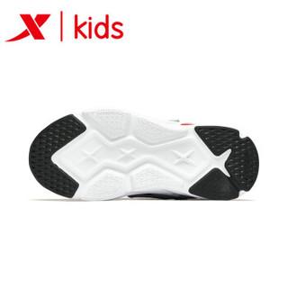 特步童鞋男童运动鞋ins网红老爹鞋儿童潮流运动鞋2019年新款防滑 681115329181 灰兰 34