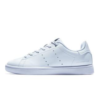 QIAODAN 乔丹 女鞋板鞋女休闲鞋运动鞋韩版潮流小白鞋 XM1690510 白色/银色 37.5