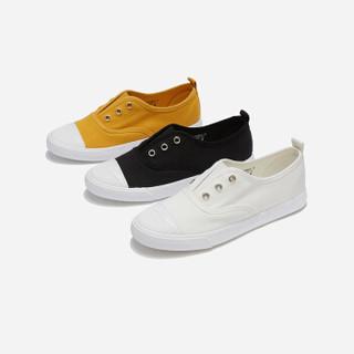 hotwind 热风 女士时尚帆布鞋H14W9502 25黄色 35
