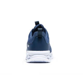 CAMEL 骆驼 男款轻便慢跑鞋系列 运动鞋男女跑步鞋时尚休闲情侣款鞋子透气超轻跑鞋 A912600035 男款蓝色 43