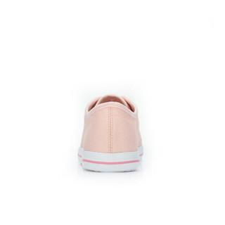 CAMEL 骆驼 女士 清新舒适心跳图案平底帆布鞋 A912266142 粉色 35