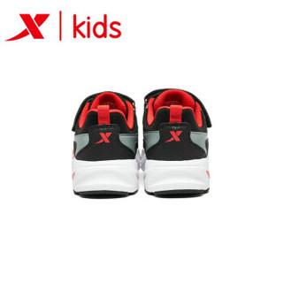 特步童鞋 男童运动鞋潮流老爹鞋2019新款春秋季时尚儿童休闲鞋子 681115329170 黑红 33