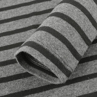 Gap旗舰店女装长袖T恤打底衫 圆领条纹柔软莫代尔女士内搭上衣 352725 灰色条纹 155/76A(XXXS)