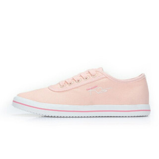 CAMEL 骆驼 女士 清新舒适心跳图案平底帆布鞋 A912266142 粉色 36