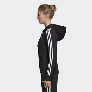 adidas 阿迪达斯 女子 女子训练系列 W E 3S FZ HD 运动 夹克 DP2419 黑色 XS码