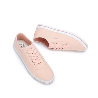 CAMEL 骆驼 女士 清新舒适心跳图案平底帆布鞋 A912266142 粉色 38