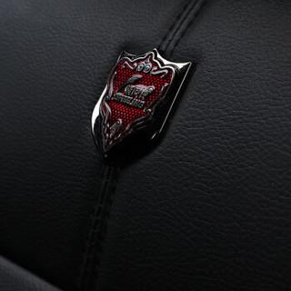 紫风铃全包围汽车坐垫四季通用皮革座垫座套途观朗逸哈弗H6博越卡罗拉宝来速腾英朗思域M03运动黑红-豪华版